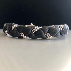 Italian Sterling & Leather Bracelet